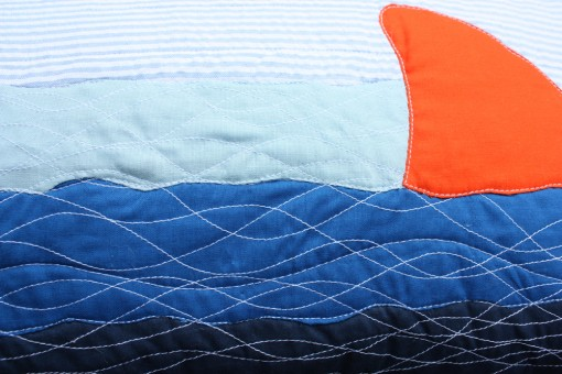 ptown pillows ::: shark detail