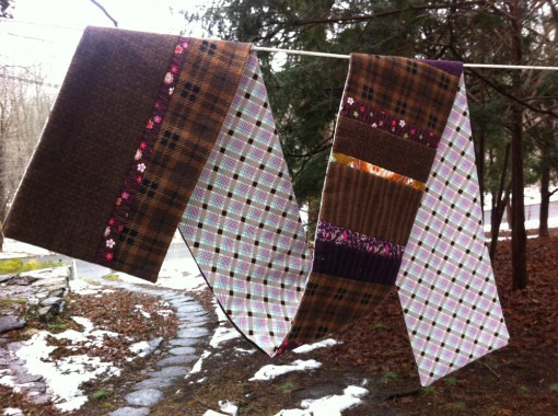 Patchwork Scarf ::: Flannel and Cotton