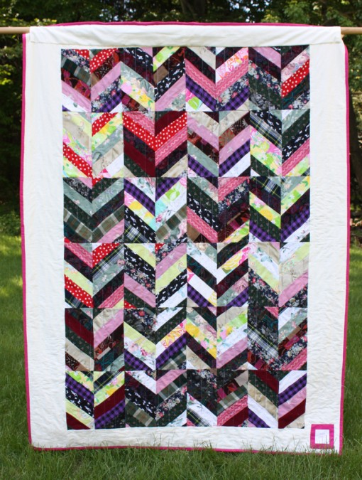 Hyla's quilt made from clothes she didn't need in Florida ::: back