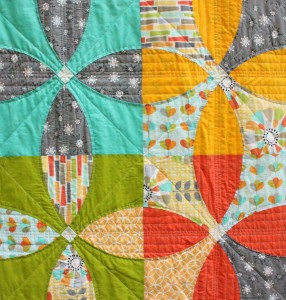 a quilt for the Modern Quilt Guild/ Michael Miller Challenge